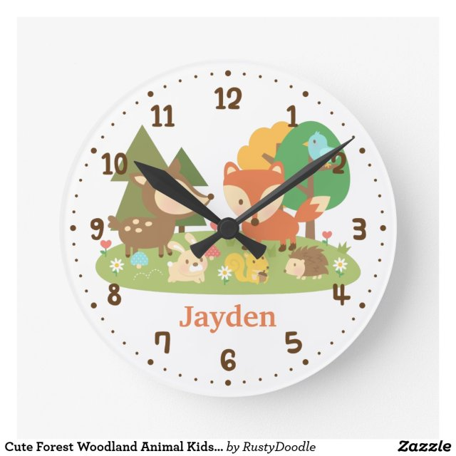 Woodland Animal Clock