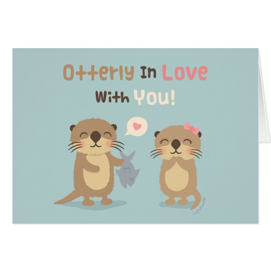 Otterly in Love With You Card