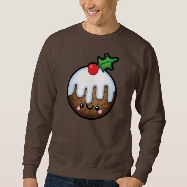Cute Kawaii Christmas Pudding Mens Jumper
