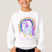 Cute Magical Unicorn with rainbow Sweatshirt