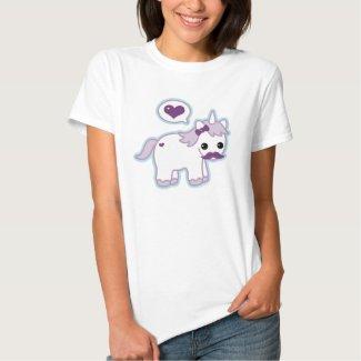 Cute Moustache Unicorn T-Shirt