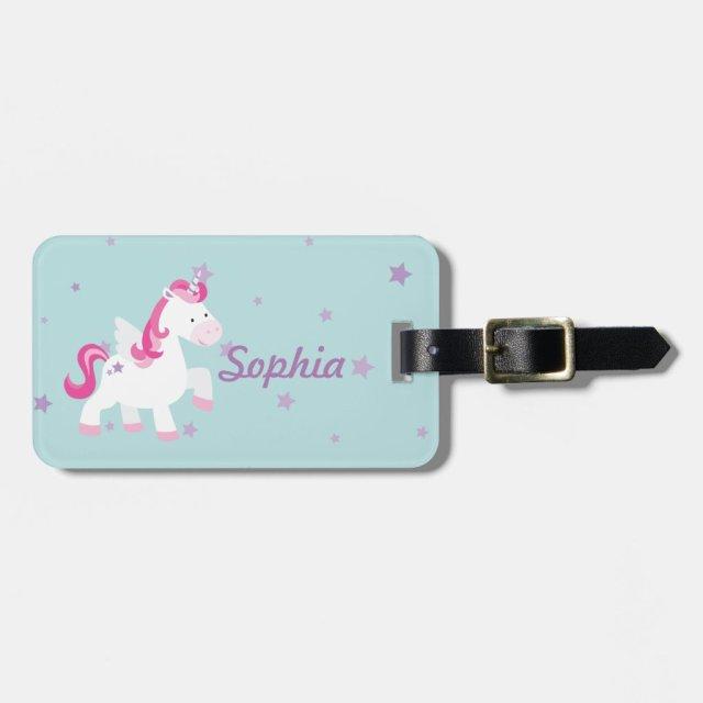 Personalised Unicorn Luggage Tag