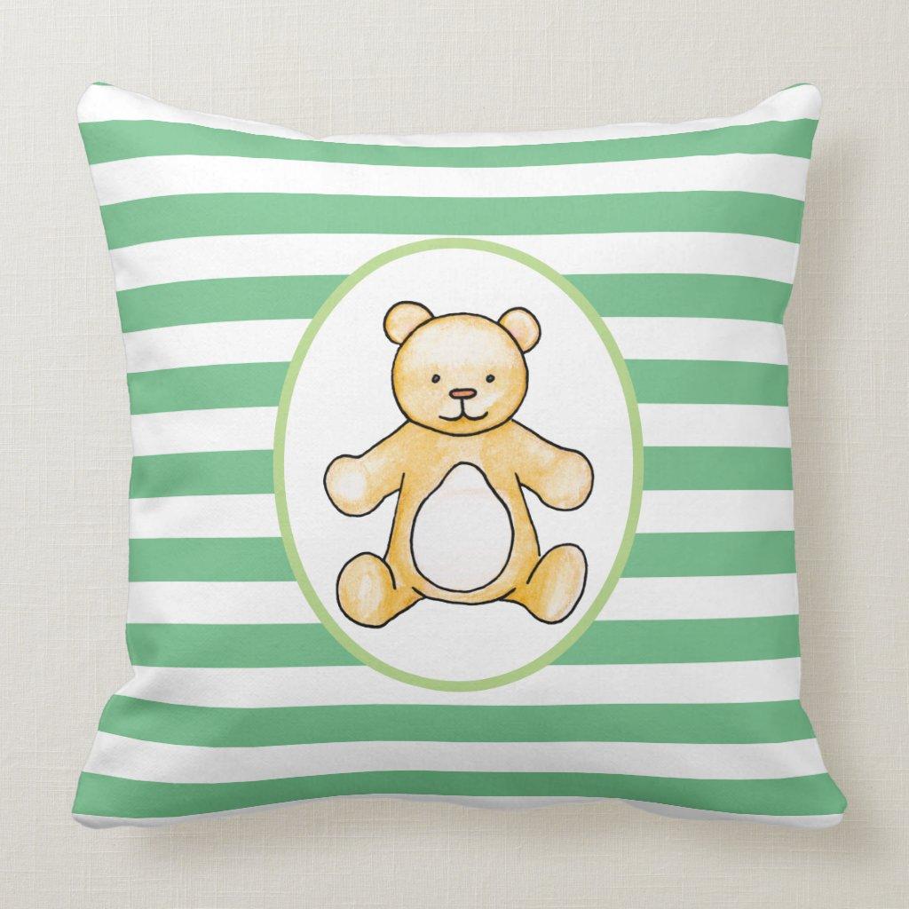 Cute vintage teddy bear drawing cushion