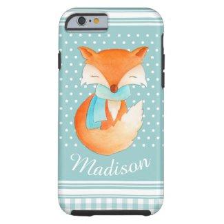 Cute winter fox grey iPhone 6 case