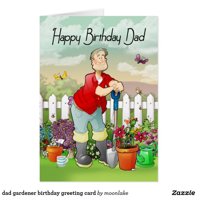 dad gardener birthday greeting card