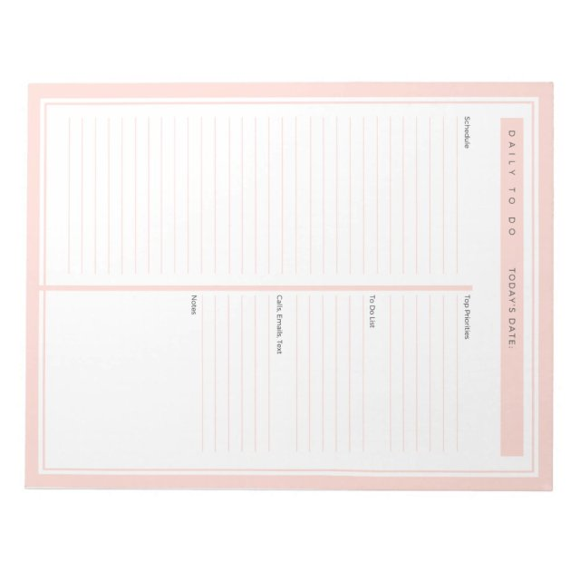 Daily To Do List Blush