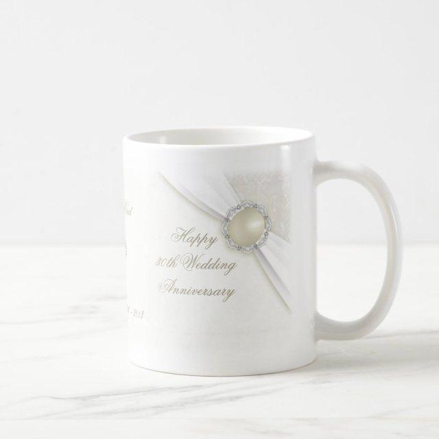 Damask 30th Wedding Anniversary Mug