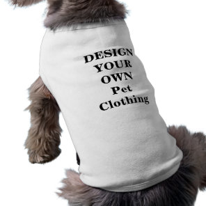 Design Your Own Pet Clothing