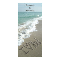 Destination Wedding Program, Beach Theme Rack Card Design