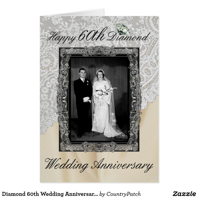 Diamond 60th Wedding Anniversary Elegant