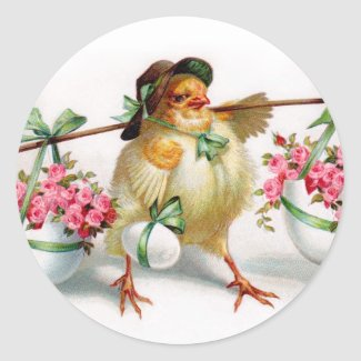 Easter Chick Stickers