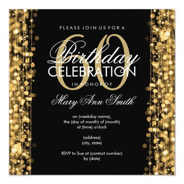 Elegant 60th Birthday Party Card