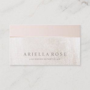 Elegant Day Spa and Salon Blush Pink White Marble Business Card