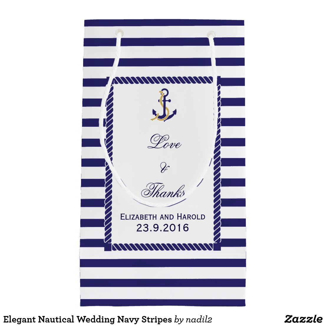 Nautical Wedding Gift Bag