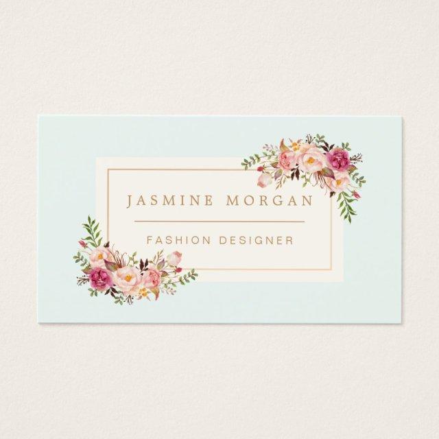 Elegant Pastel Watercolor Floral Boutique Decor