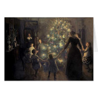 Elegant Vintage Christmas Tree Card