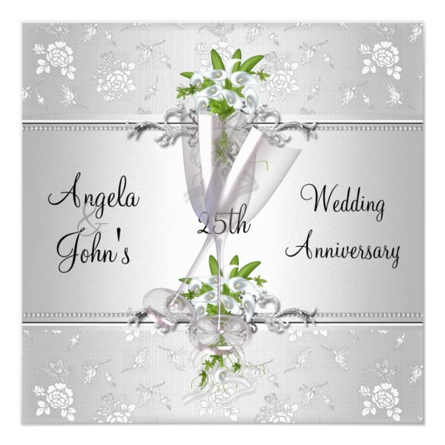Elegant Wedding Anniversary Invites