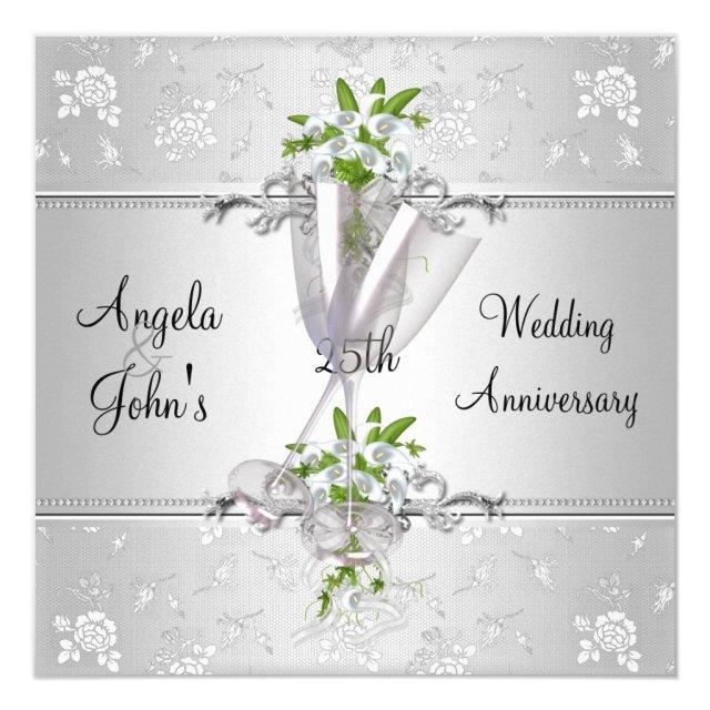 Elegant Wedding Anniversary Invites