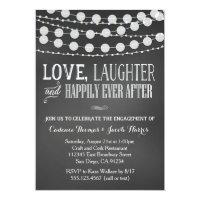 Engagement Party Invitation Chalkboard Wedding