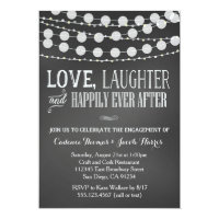Engagement Party Invitation Chalkboard Wedding