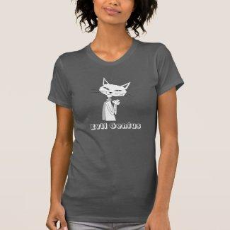 Evil Genius Cat T-shirt