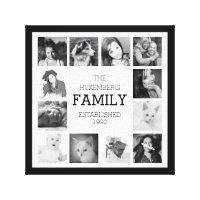 Family Photo Memories Canvas Print
