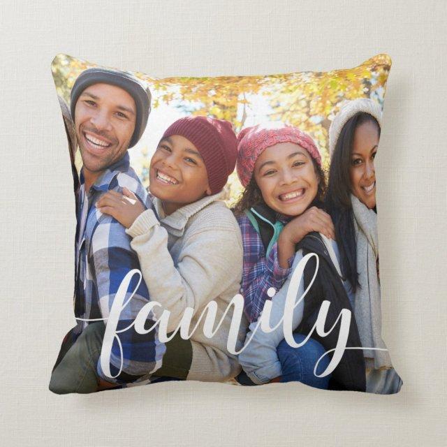 Family Script Photo Cushion