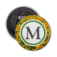 Field of Sunflowers Bottle Opener