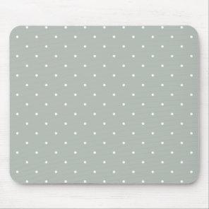 Fifties Style Silver Grey Polka Dot Mouse Mat