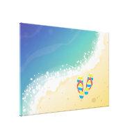 Flip Flop Beach Canvas Print