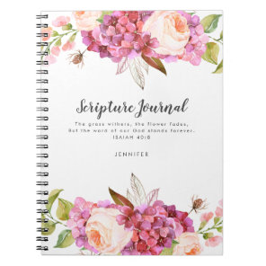 Floral Bouquet Personalised Scripture Journal