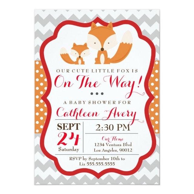 Fox Baby Shower Invitation