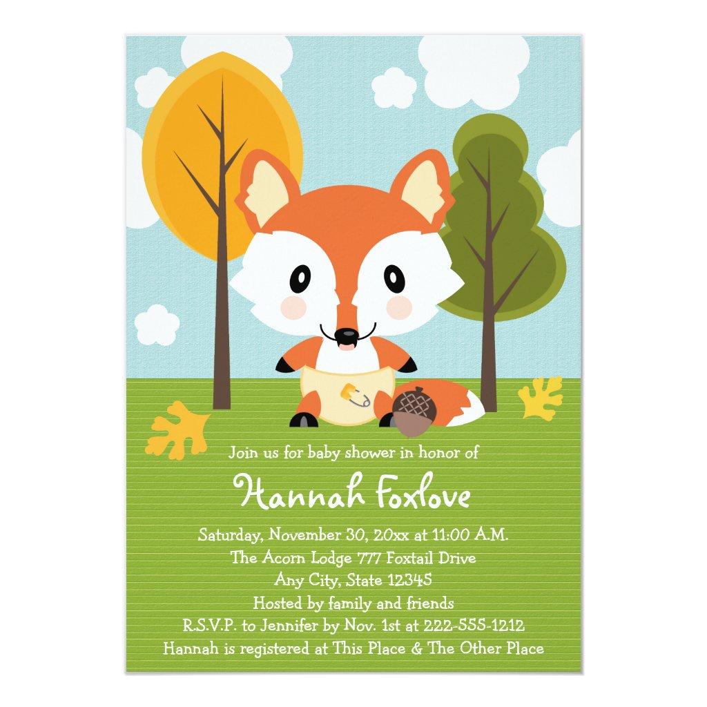 FOX IN DIAPERS BABY SHOWER