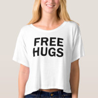 Free Hugs Crop Top