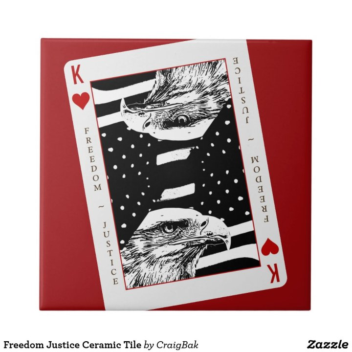 Freedom Justice Ceramic Tile