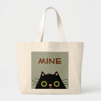 Frumpy Cat Large Tote Bag