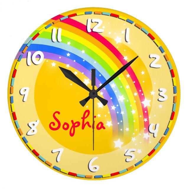 Rainbow name wall clock