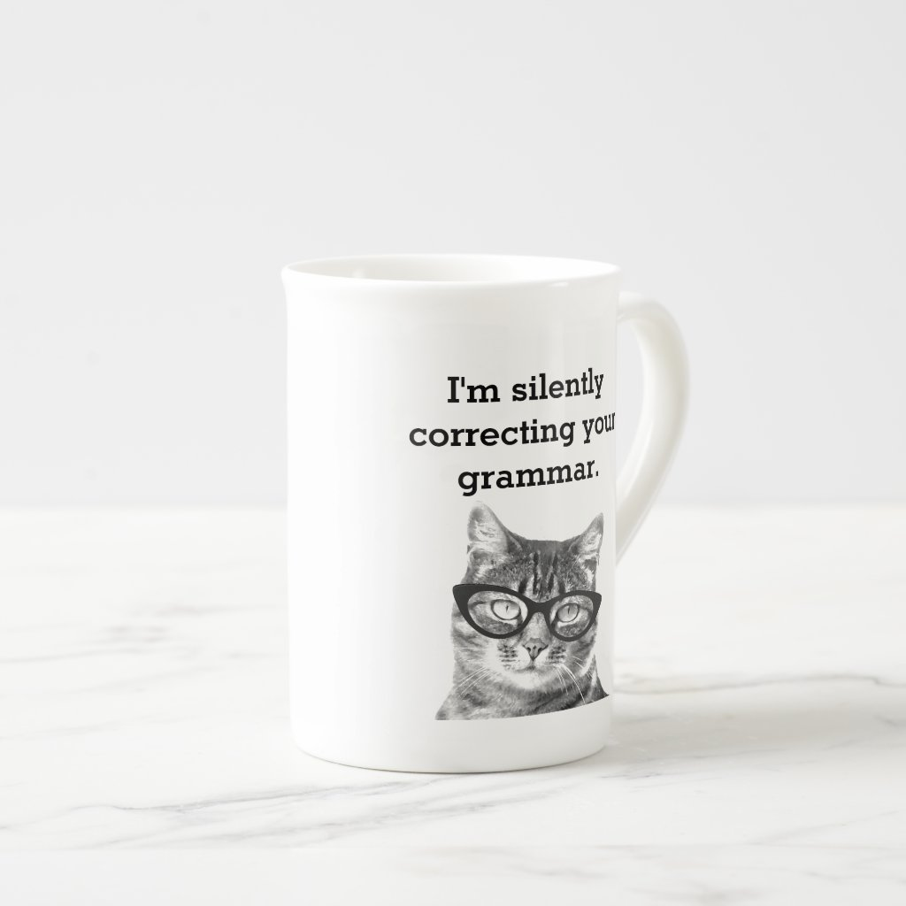 Funny cat quote photo bone china speciality tea tea cup