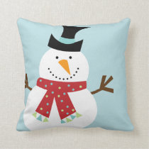 Funny Snowman Christmas Custom Pillows