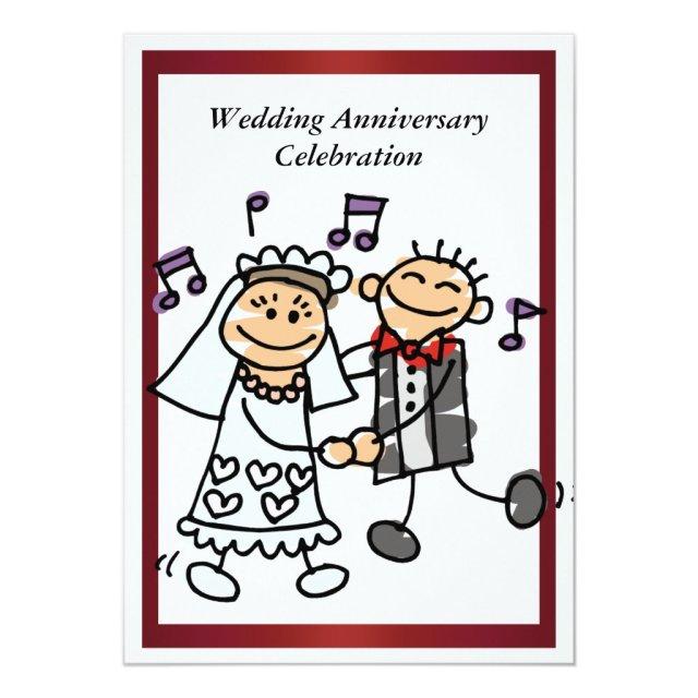 Funny Wedding Anniversary Invitation