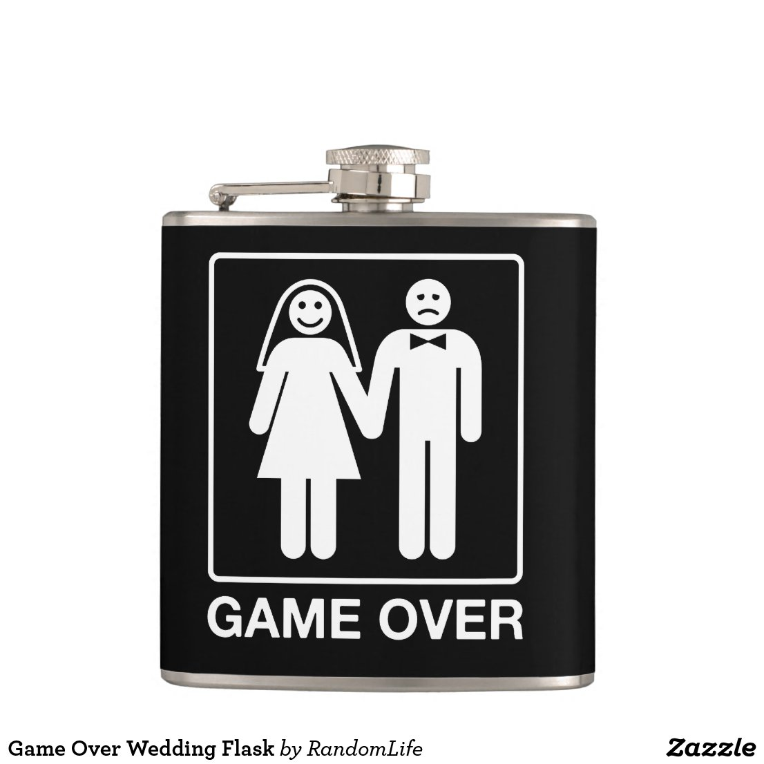 Game Over Wedding Flask