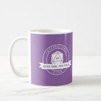 Geek Girl Pen Pals Purple Mug