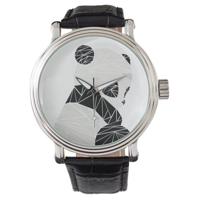 Geometric panda watch