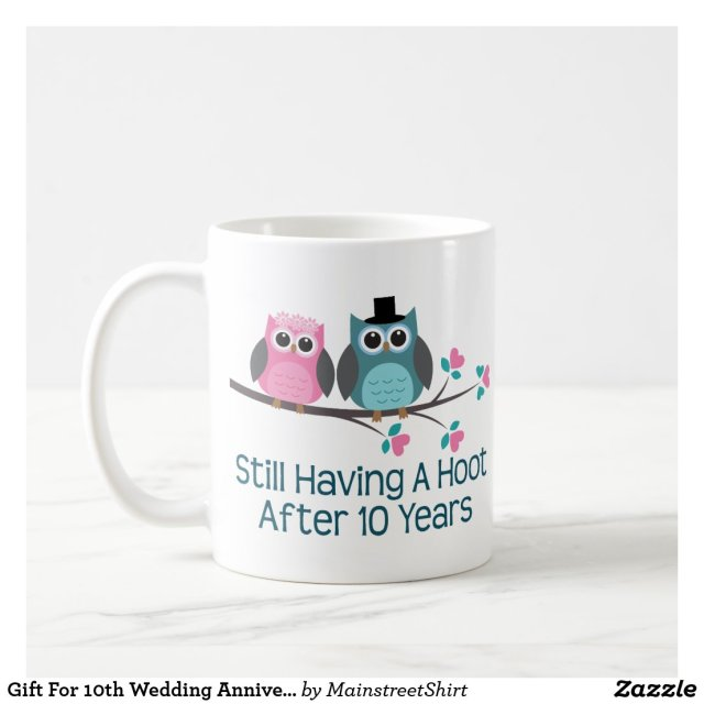 10th Wedding Anniversary Mug