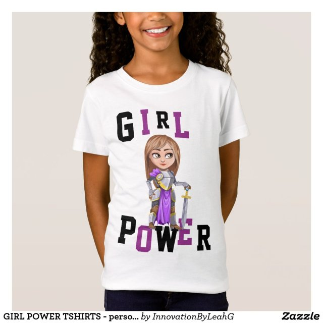 GIRL POWER Knight Warrior Solider ADD NAME ON BACK