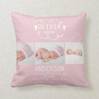 Photo Birth Announcement Cushion