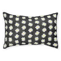 Floral daisy pattern dog bed