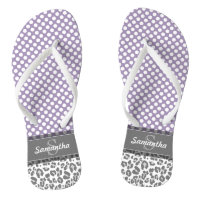 Leopard Print Flip Flops