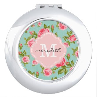 Floral Compact Mirror