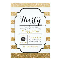 Glitter Birthday Invitation, 30th Birthday, 5